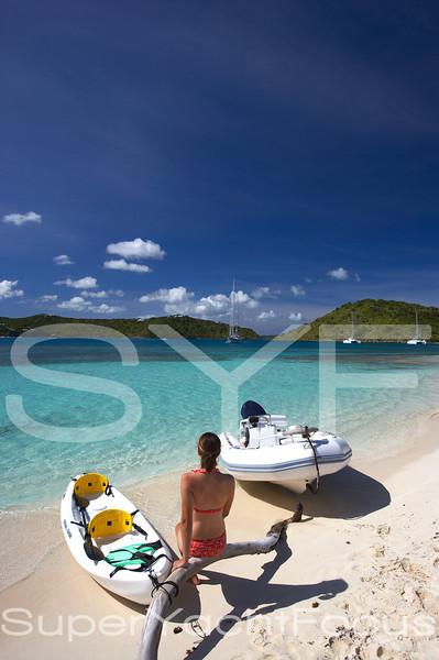 Guest on beach,Antigua