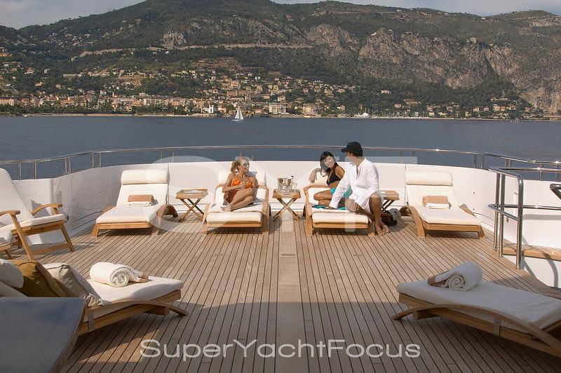 Guests on sunbeds