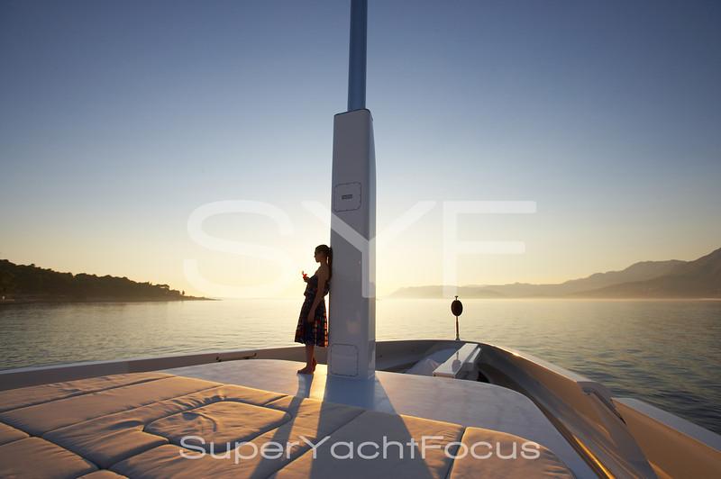 YR5Z4795Sunset,girl,superyacht