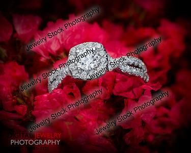 Diamond halo ring reb flowers