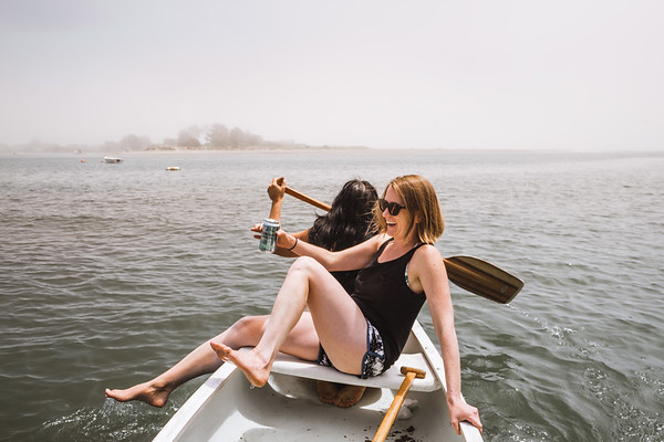 Friends, beer, and a canoe