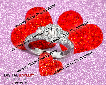 3 Stone Emerald Ring On Hearts Valentines Day Lifestyle