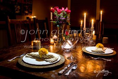 Valentine dinner setting-1