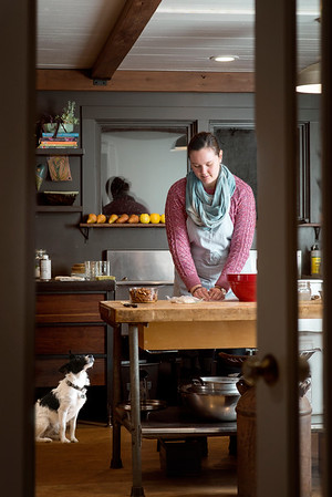 This two-day shoot was at a farm where the chef wanted lifestyle images of her on the farm, feeding the chickens and cooking. Some of the images will be used in the May issue of Mother Earth magazine.