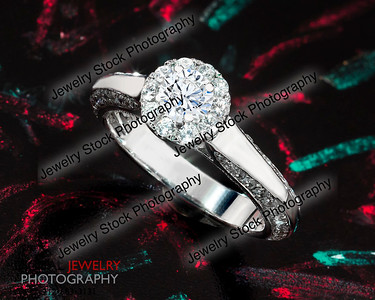 Diamond Ring with Colored Chalk Lifestyle