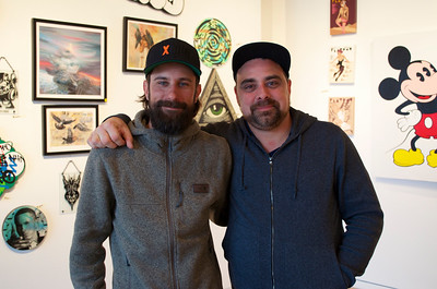 Dan Armand and Jesse Cory at Inner State Galleries last day of public business