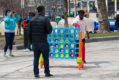 Connect Four at Grand Circus Park, Detroit