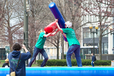 Jousting at Grand Circus Park, Detroit