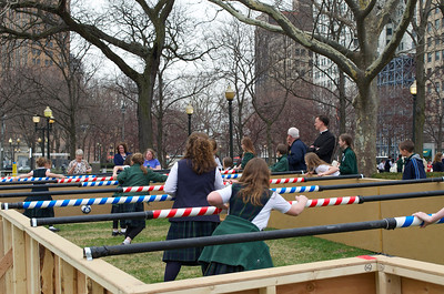 Human Foosball at Grand Circus Park, Detroit