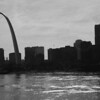 St. Louis skyline and Mississippi river