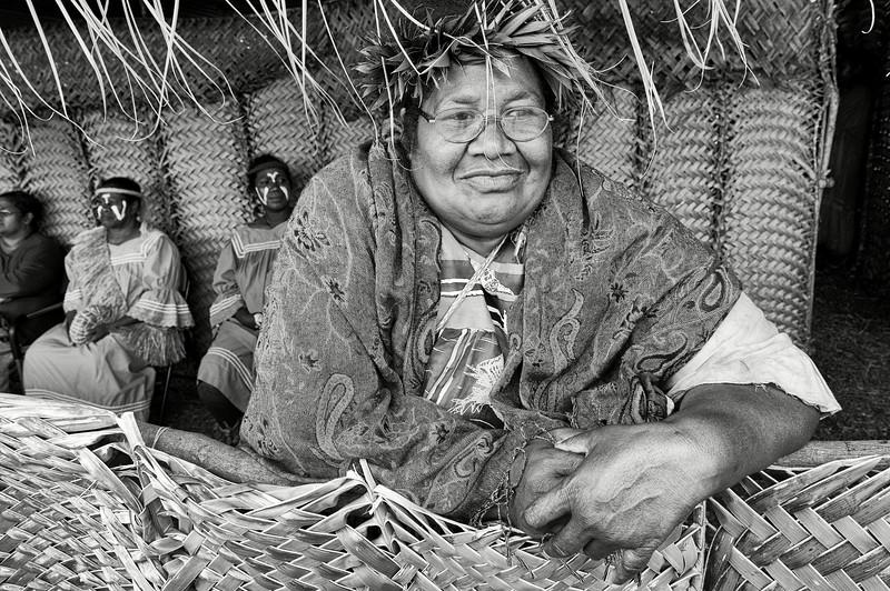 Portrait d'une femme de la tribu de Mu. Lifou/Iles Loyauté/Nouvelle-Calédonie