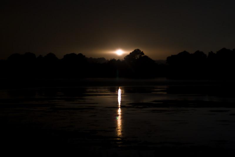 The Beach at Night. The Light House. Assateague Island, VA. 2008.