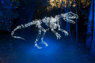 Allosaurus in a Blue Forest