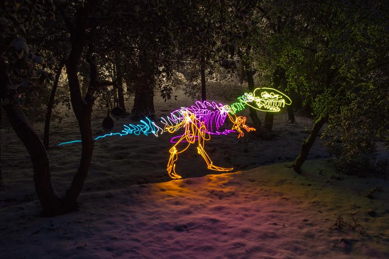 T-Rex in the backyard