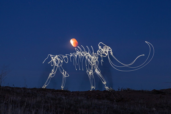 Mammoth Carries Moon