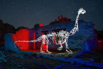 Brachiosaurus in Desert Ruins