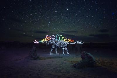 Stegosaurus in Space