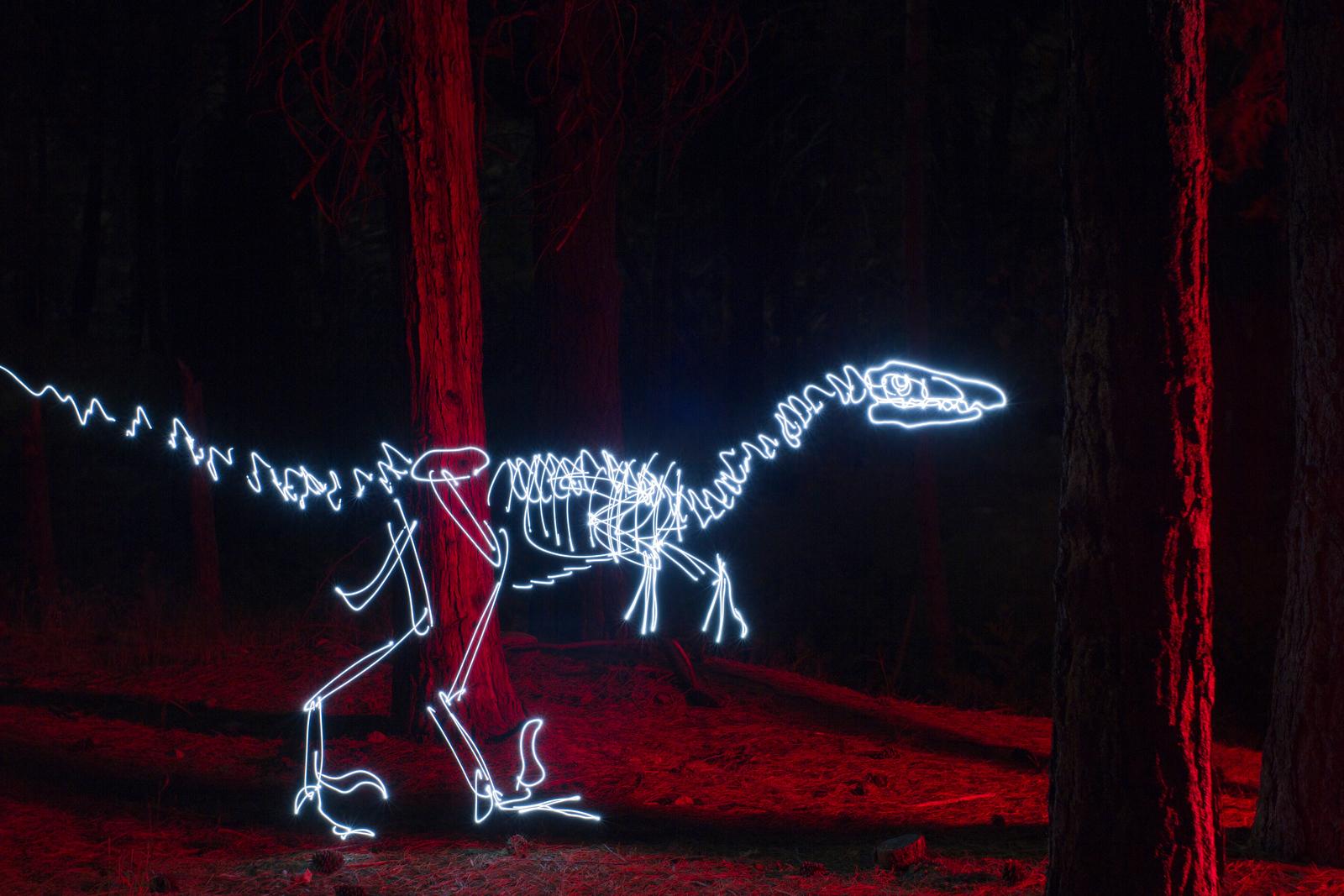 Velociraptor in the Woods