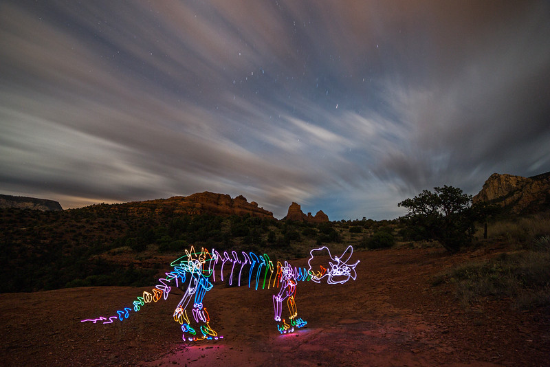 Spectral Triceratops Passing Time