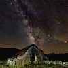 One of the famous Boxley Valley Barns in Newton County Arkansas under the Milky Way.  Mars is visible as the brightest object at the far right, and Saturn is the next brightest one above and to the left of Mars.