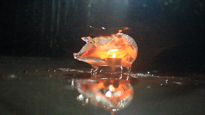 Varaha flaming in a rain