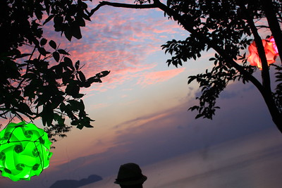 Best view in town, at Koh Phangan west-side coast