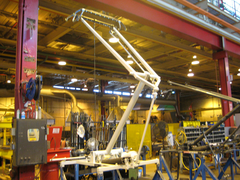 Pantograph being painted at Everett, those things are huge when you're standing next tot them!