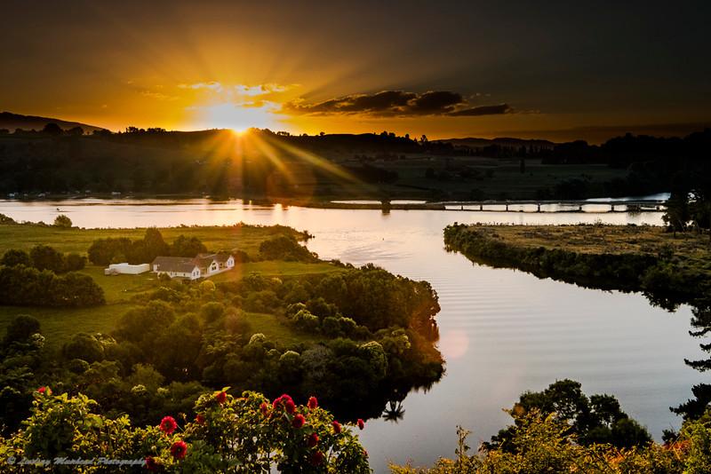 Sunset Lake Karapiro