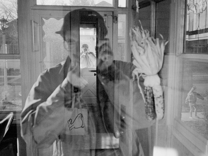 Oak Park front door - self portrait