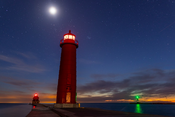 Grand Haven Pier Under the Moon