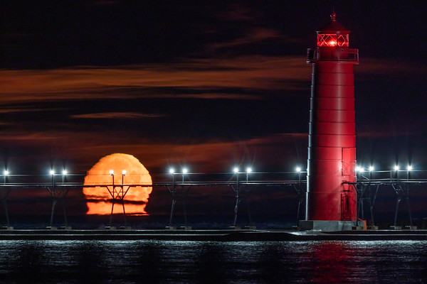 Early Morning Moonset in Grand Haven III