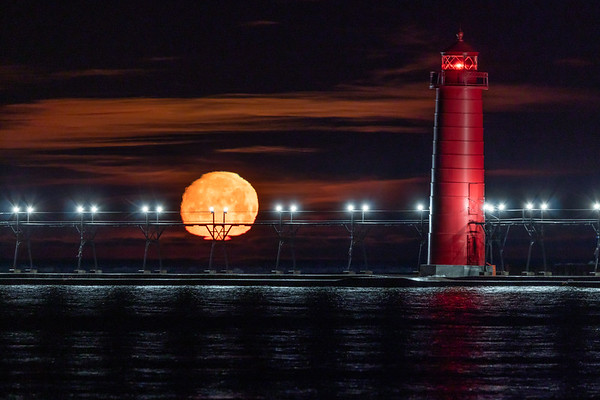Early Morning Moonset in Grand Haven II