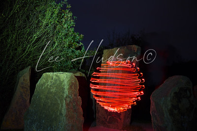 Light Sphere and stones