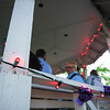 5/3/17 FITCHBURG-- Purple colored bulbs with a reddish hue line the gazebo on the Upper Common in Fitchburg to honor the efforts of local efforts to fight cancer on Wednesday May 3, 2017.  (Sentinel & Enterprise photo/Jeff Porter)