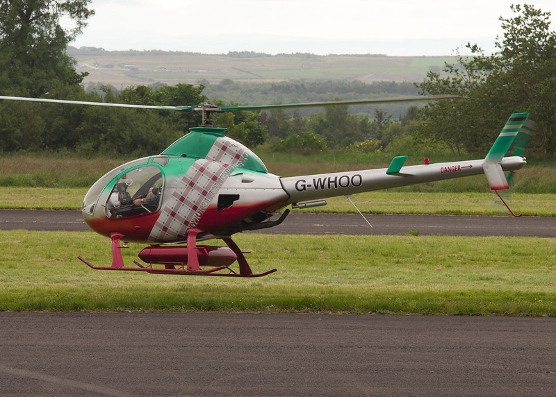 G-WHOO<br /> Saul Rotorway Executive 162F<br /> Fife AIrport, Glenrothes<br /> 14th June  2014