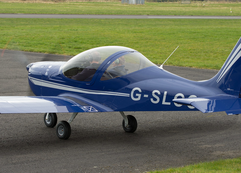 G-SLCC<br /> EV-97 Eurostar SL Microlight <br /> Fife Airport, Glenrothes<br /> 4th April 2015