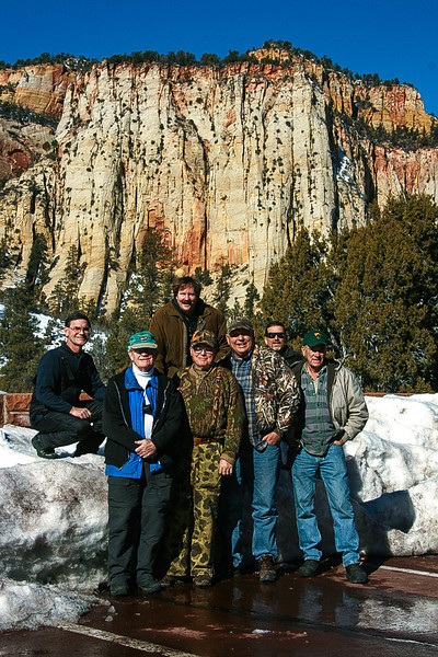 Utah Tour - January 2009 <br /> <br /> Front row: John Hewitt, Tom Davis, Jay Brooks, Jack Denger <br /> Back row: Paul Riewerts, Mark Rasmussen, John Cunningham