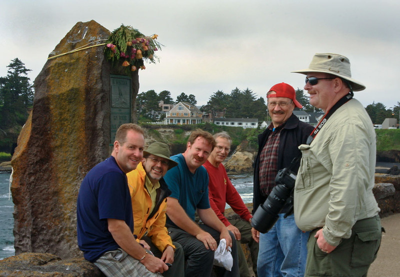 "Oregon Coast Tour - June 2012<br /> <br /> L - R:  Andrew ""Insepector Gadget"" Ehrlich, John ""Johnny of the Jungle"" Cunningham, Mark ""Obi"" Rasmussen, Mark ""Dr. Igor"" Gromko, Don Andberg, David Smith.<br /> <br /> Missing:  Rita Burrows (photographer for the image)"