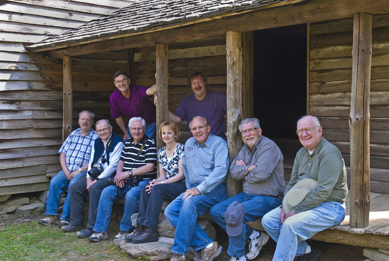 "Great Smoky Mountains Spring Tour - April 2011<br /> <br /> Front row left to right:  Alvin Riesbeck , ""Smilin John"" Hewitt, Don ""The Weasel"" Plocher, Mary Anderson, Doug Beezley, Jimmy Simpson, Jim Norton<br /> Back Row left to right: Paul Riewerts, Mark Rasmussen"