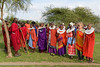 Judy Ingleman and a gathering of the ladies - Masai Boma, Tanzania, Africa - Darren Stratemeier - January 2016