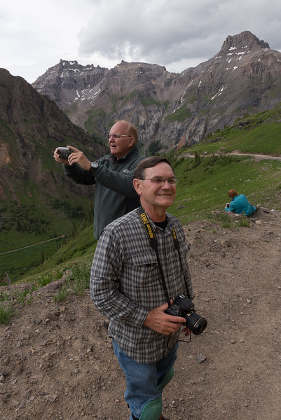 Paul Riewerts and Doug Beezley at Governor Basin - Colorado Wildflowers - Mark Gromko - July, 2015