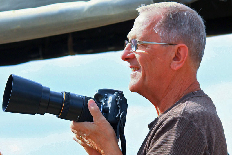 Happy Shooter (Roger Luft) - Wild Horse Tour, Green River, Wyoming - Sandy Reed - August 2013