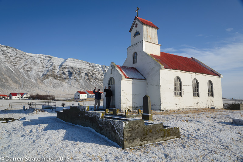 Mark Rasmussen and Tom Ruhland Get To The Church On Time - Western Iceland, just north of Reykjavik - Darren Stratemeier - March 2015