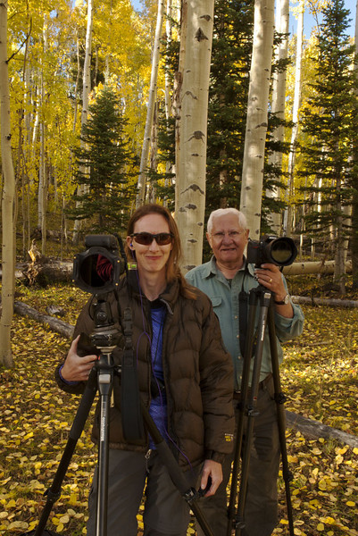 Miss Kitty (D'An Glueckert) and The Weasel (Don Plocher) at the True Grit Meadow - Chimney Peak - San Juan Mountains, Colorado - Colorado-Utah Fall Tour 2012