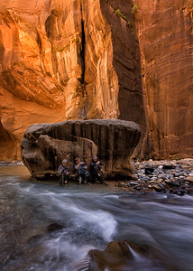 Between a Rock and a Wet Place - The Narrows, Zion National Park, Utah - Mark Gromko - May 2015