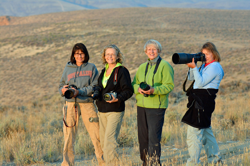 The Michigan Nurses (L-R): Sue Cole, Chris Sprik, Sandy Reed, Jenny Cummings - Wild Horse Tour, Green River, Wyoming - Doug Beezley - August 2013