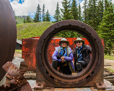 """Two Peas in a...What?"", Lin Craft and Nancy Varga at Longfellow Mine, San Juan Mountains - Colorado Wildflowers - Nancy Varga - July 2015"