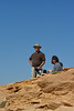 Roger Luft and Sue Cole on top of Castle Rock - Wild Horse Tour, Green River, Wyoming - Doug Beezley - August 2013