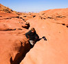 Mark trying to extricate himself at Upper Antelope Canyon - November 2007