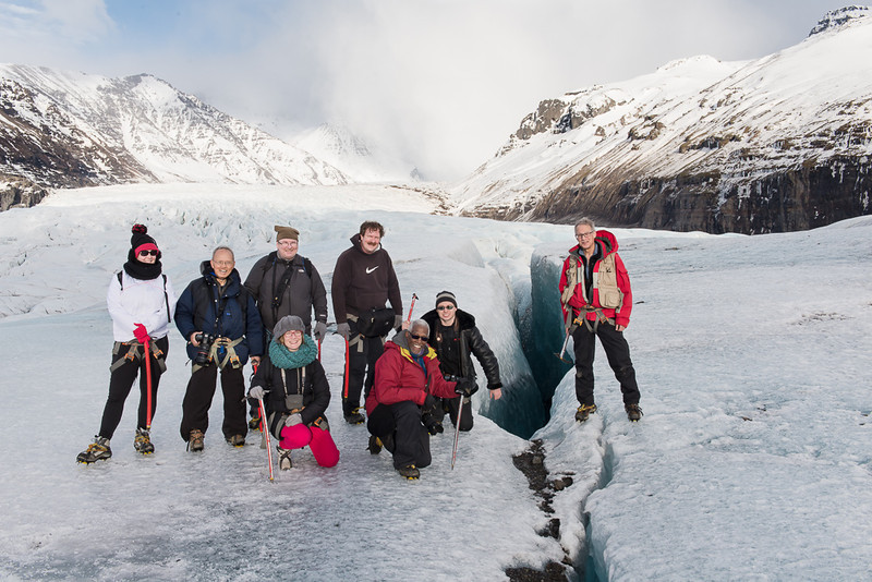 Glacier Walk - Iceland - February/March 2014<br /> <br /> Standing from L - Unknown, Cosmas Liu, MD, David Smith, Mark Rasmussen, Mark Gromko<br /> Kneeling from L - Unknown, Michael Kirkland, Dennis Krukover
